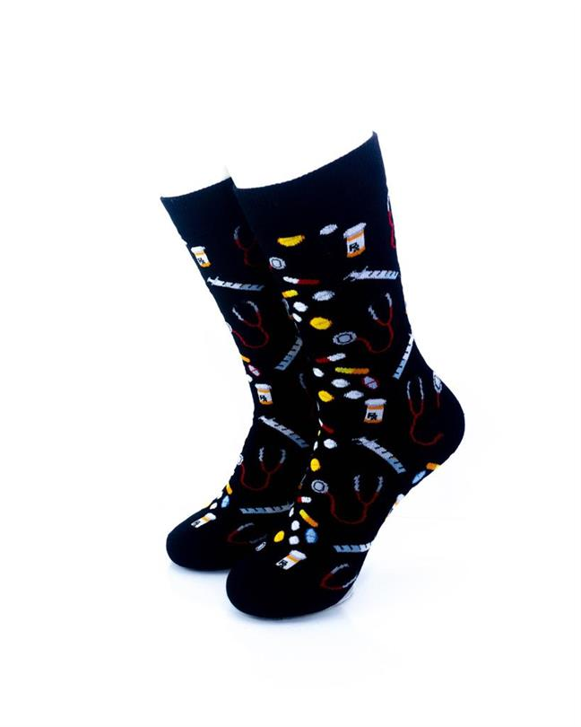 cooldesocks medicine crew socks front view