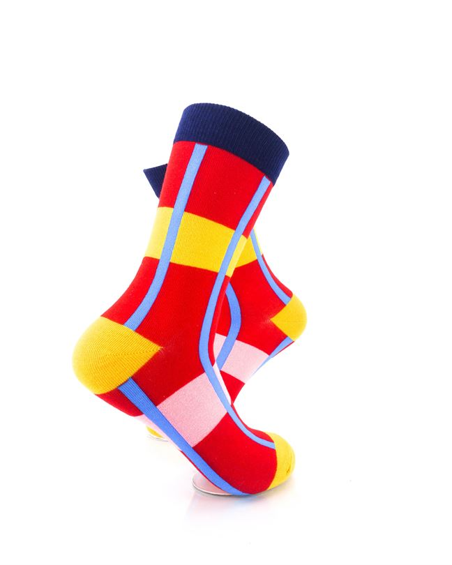 CoolDeSocks Modern Abstract - Red Socks Right View Image