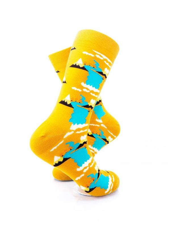 CoolDeSocks Mountain River View Socks right view image