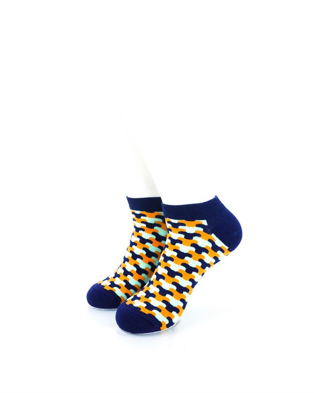 cooldesocks neo army blue ankle socks front view