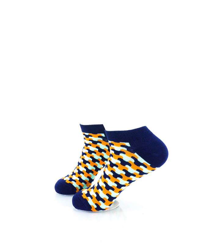 cooldesocks neo army blue ankle socks left view