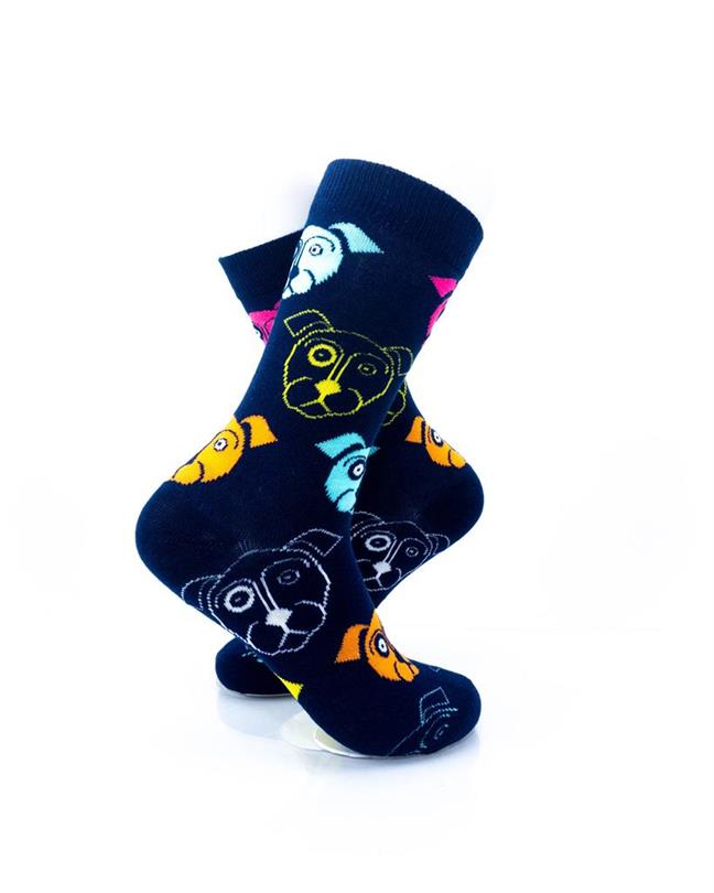 CoolDeSocks Neon Dog - Blue Socks right view image