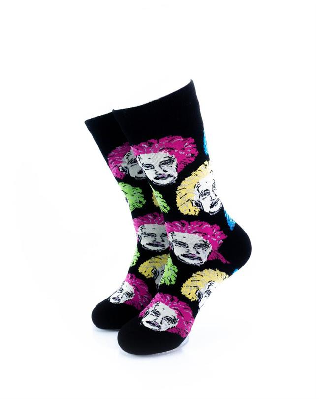 CoolDeSocks Neon Einstein Socks front view image