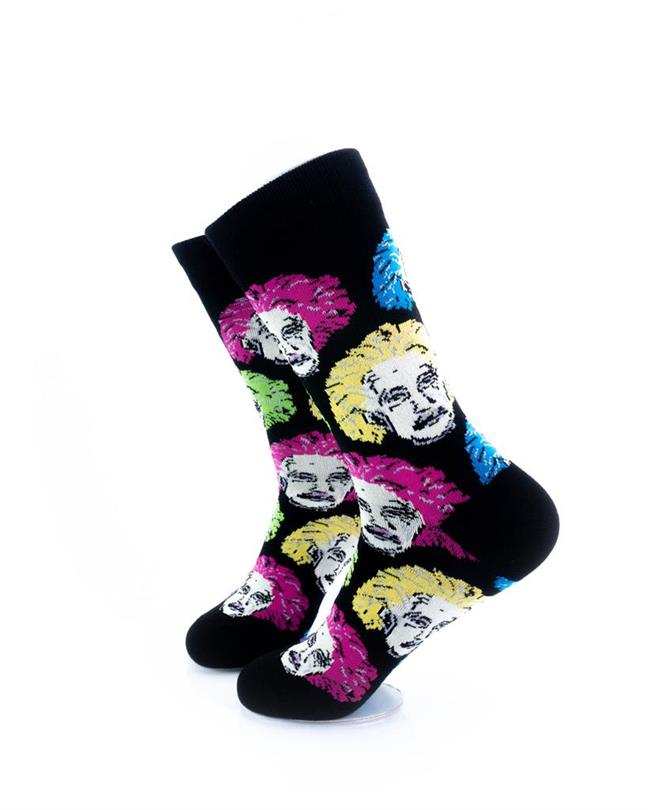 CoolDeSocks Neon Einstein Socks left view image