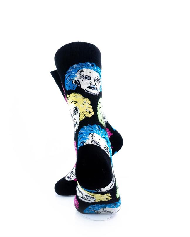 CoolDeSocks Neon Einstein Socks rear view image