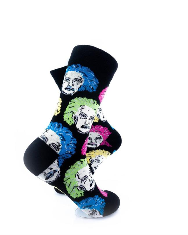 CoolDeSocks Neon Einstein Socks right view image