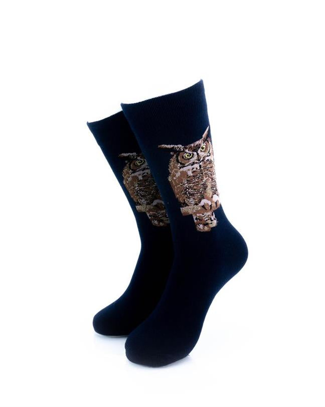 CoolDeSocks Night Owl Socks front view image