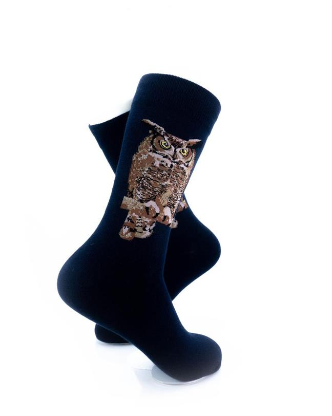 CoolDeSocks Night Owl Socks right view image