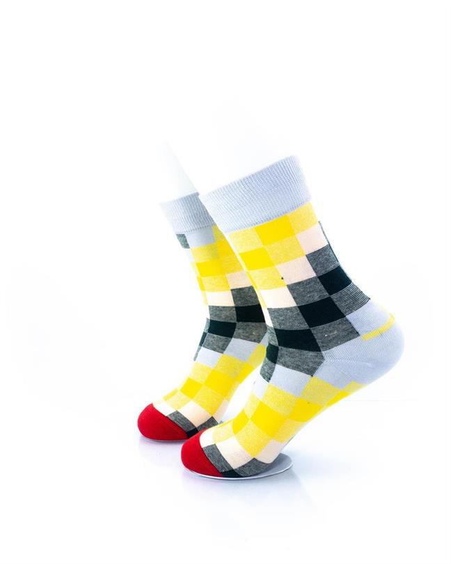 CoolDeSocks Old School - Checkered Socks left view image