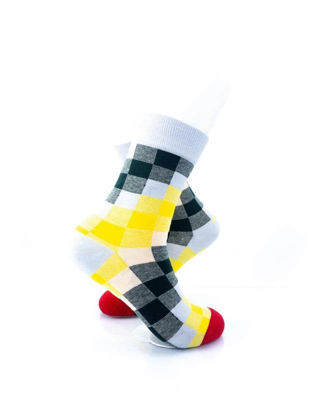 CoolDeSocks Old School - Checkered Socks right view image