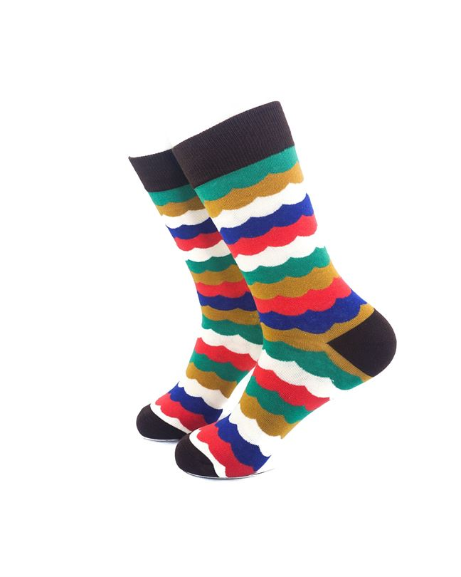 CoolDeSocks Old School Lace Crew Socks left view image