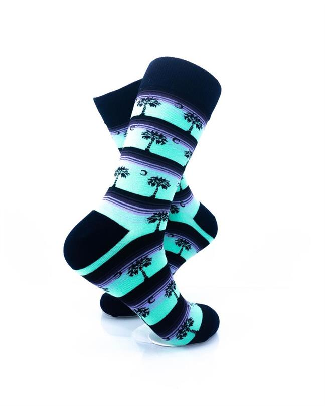 CoolDeSocks Old School - Palm Stripes Socks right view image