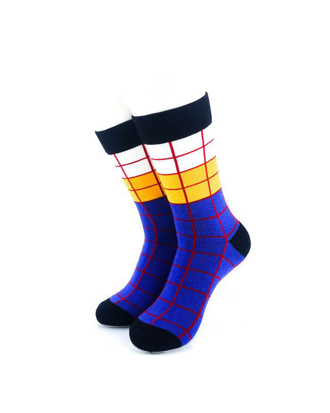 cooldesocks old school square 2 quarter socks front view image