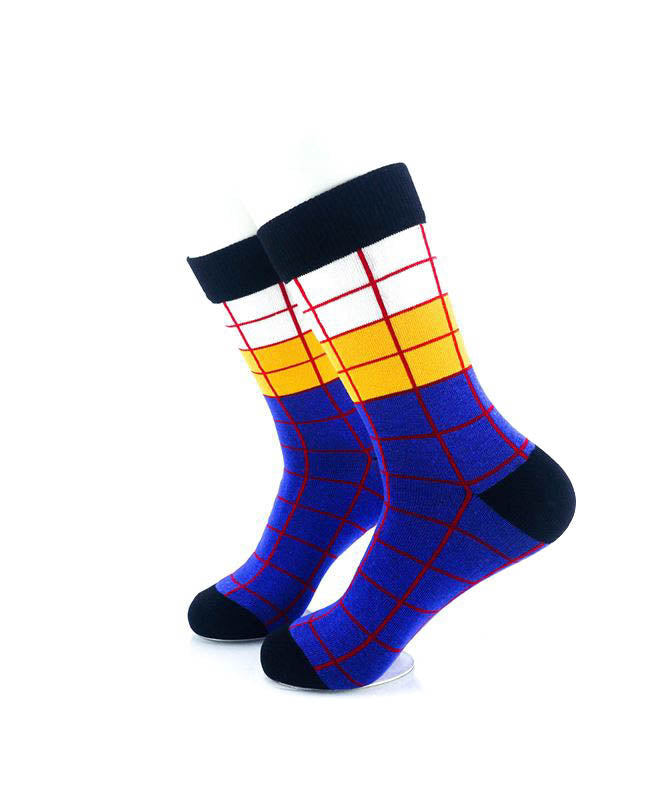 cooldesocks old school square 2 quarter socks left view image