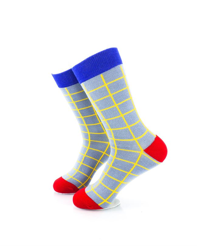 cooldesocks old school square crew socks left view