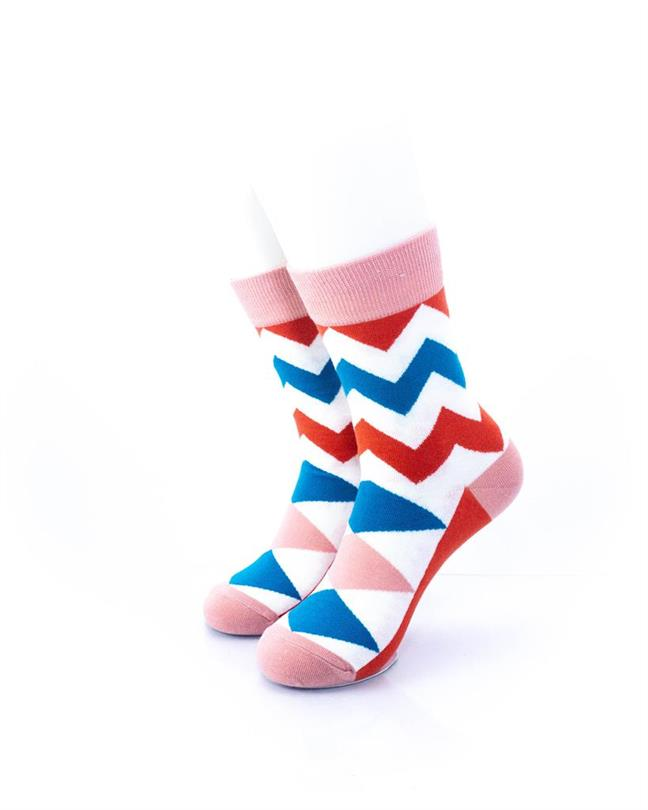 CoolDeSocks Old School - Zig Zag Socks front view image