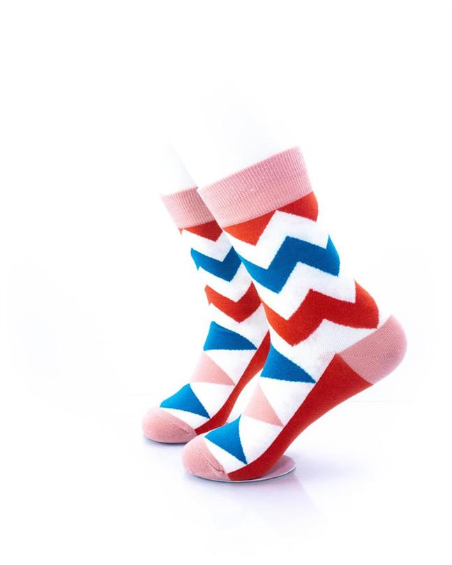 CoolDeSocks Old School - Zig Zag Socks left view image