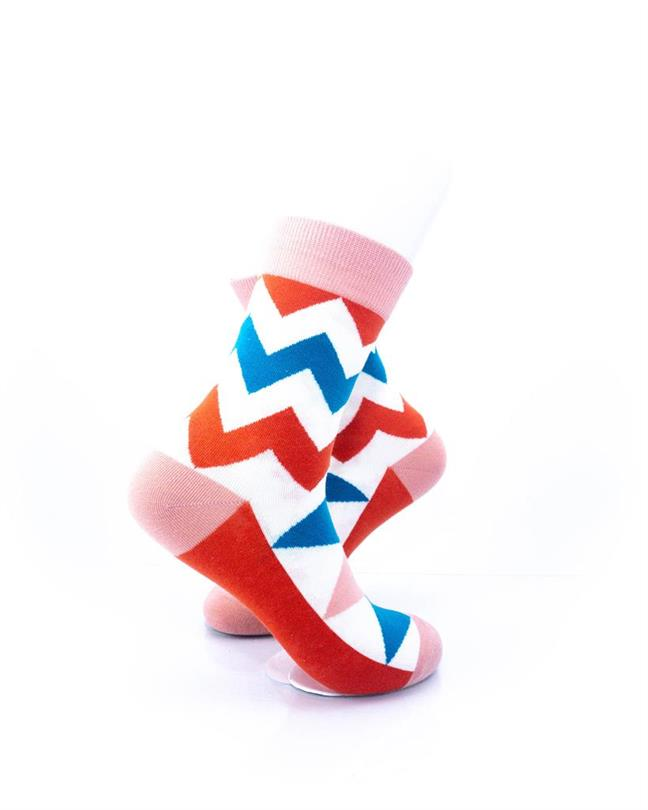 CoolDeSocks Old School - Zig Zag Socks right view image