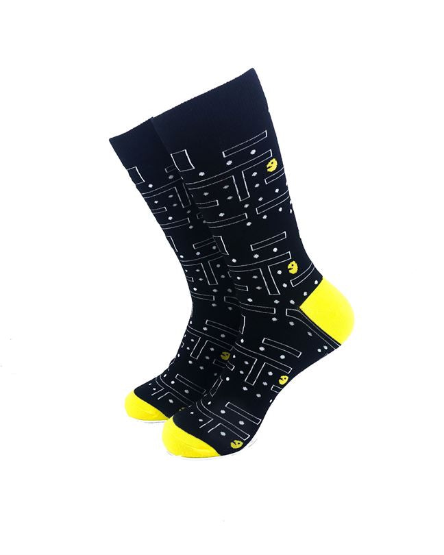 CoolDeSocks Pac Man Socks front view image