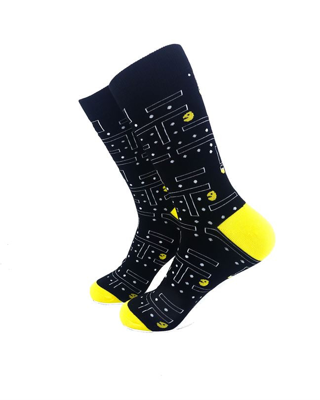 CoolDeSocks Pac Man Socks left view image