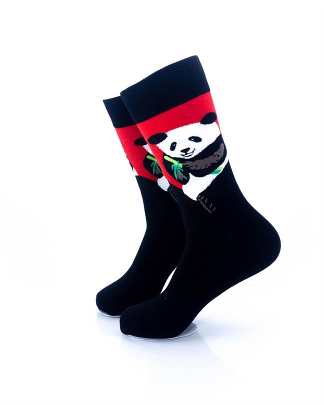 CoolDeSocks Panda Eating Bamboo Socks left view image