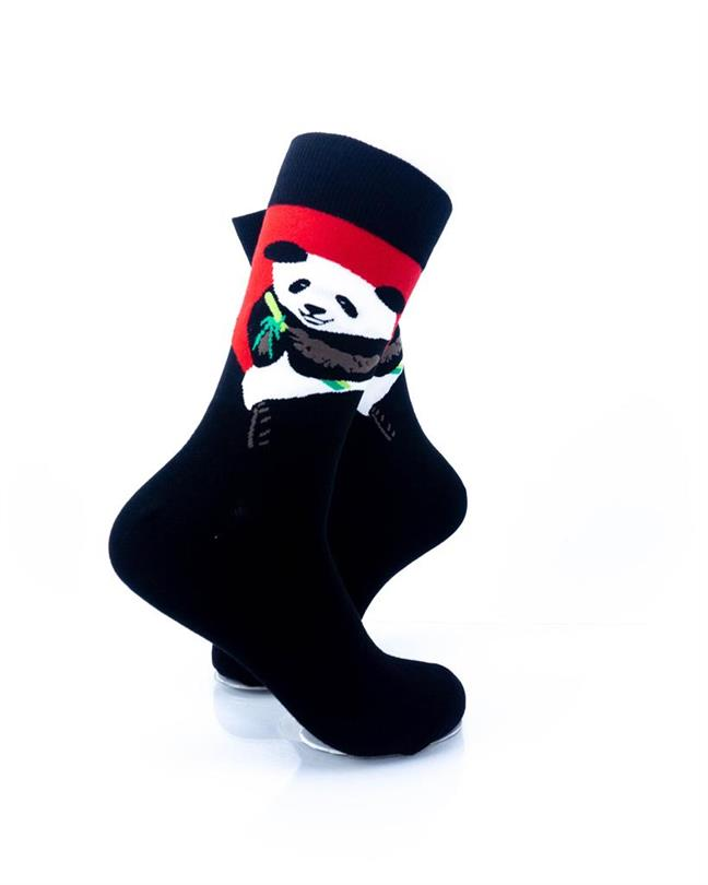 CoolDeSocks Panda Eating Bamboo Socks right view image