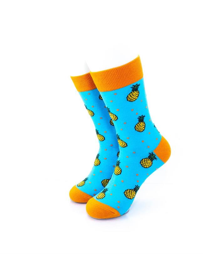 CoolDeSocks Pineapple Socks front view image