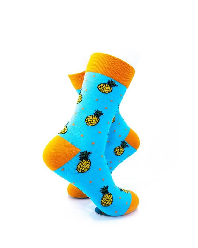 CoolDeSocks Pineapple Socks right view image