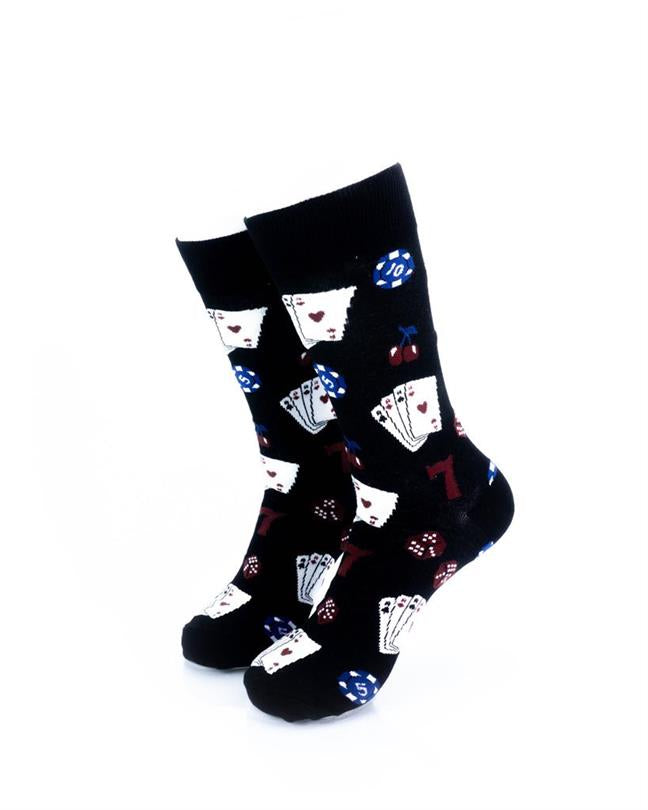 CoolDeSocks Playing Cards Socks front view image