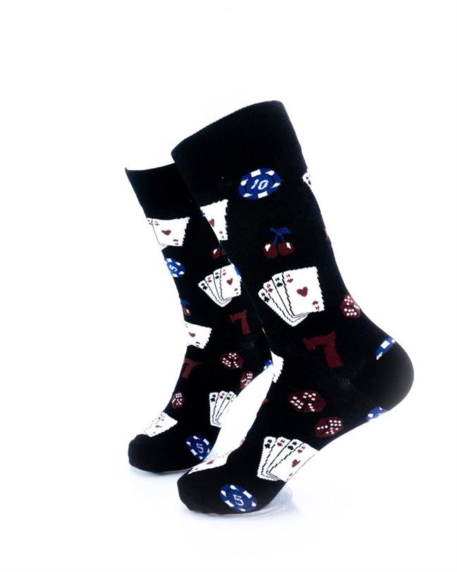 CoolDeSocks Playing Cards Socks left view image