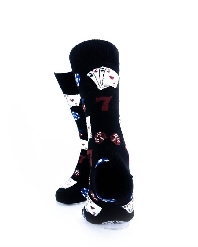 CoolDeSocks Playing Cards Socks rear view image