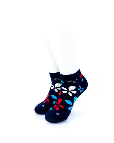 cooldesocks plumeria in colors ankle socks front view