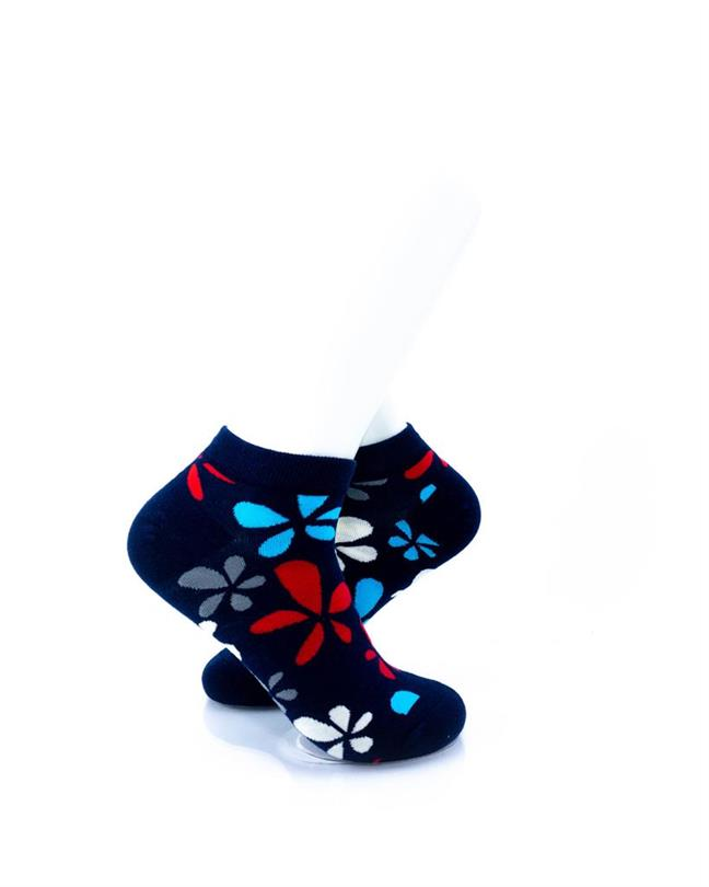 CoolDeSocks Plumeria in Colors Socks right view image