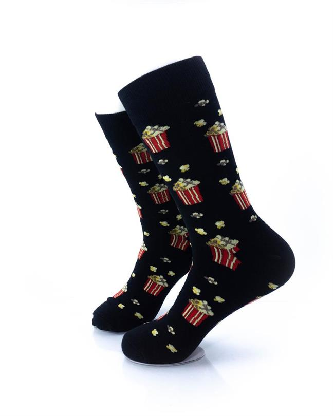 CoolDeSocks Popcorn Socks left view image