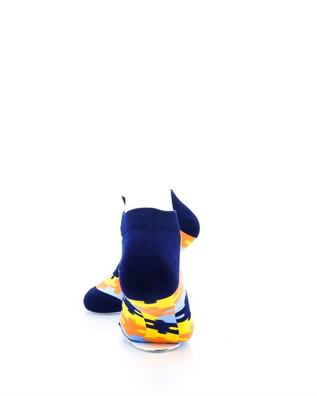 CoolDeSocks Puzzle Blue Ankle Socks rear view image