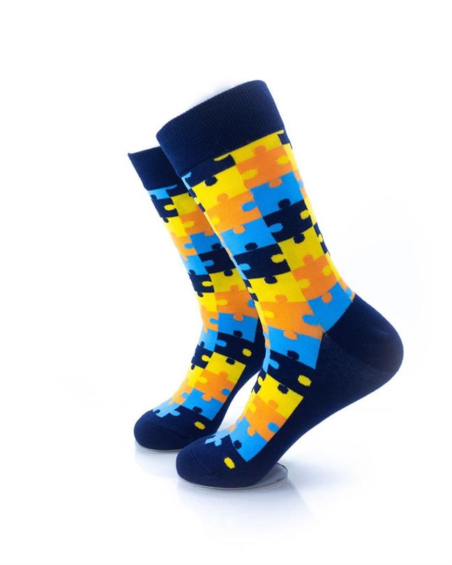 CoolDeSocks Puzzle - Blue Socks left view image
