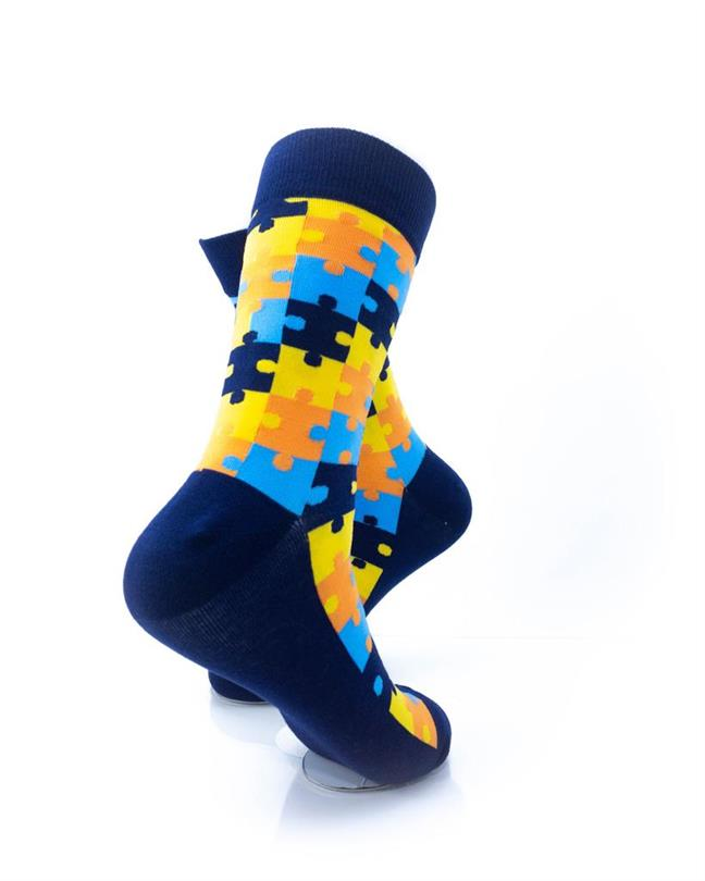 CoolDeSocks Puzzle - Blue Socks right view image