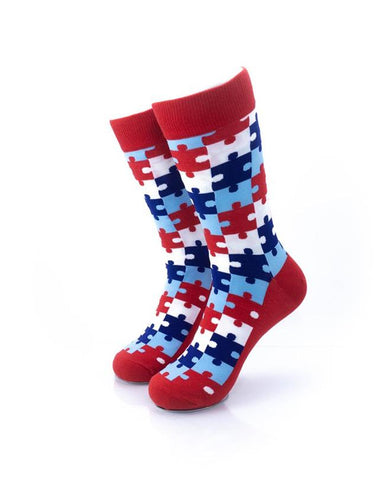CoolDeSocks Puzzle - Red Socks front view image