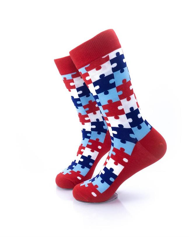 CoolDeSocks Puzzle - Red Socks left view image