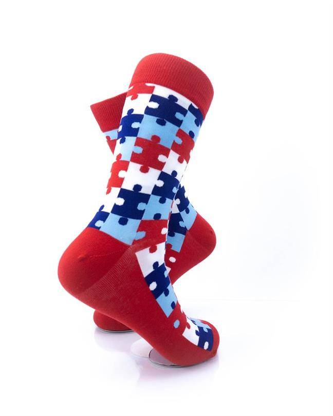 CoolDeSocks Puzzle - Red Socks right view image