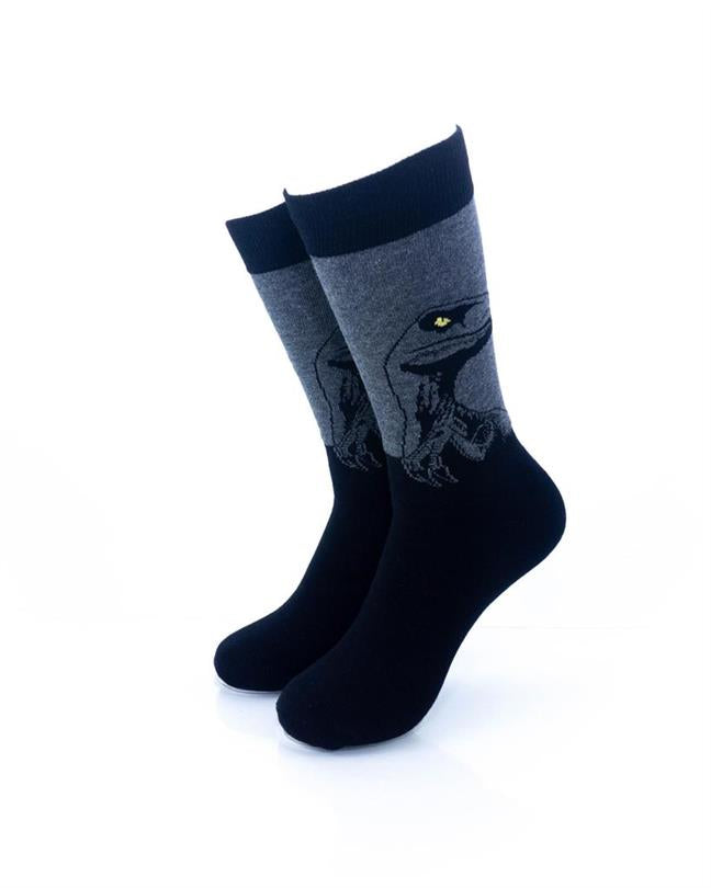 CoolDeSocks Raptor - Black Socks front view image