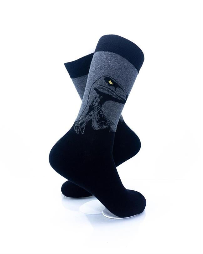 CoolDeSocks Raptor - Black Socks right view image