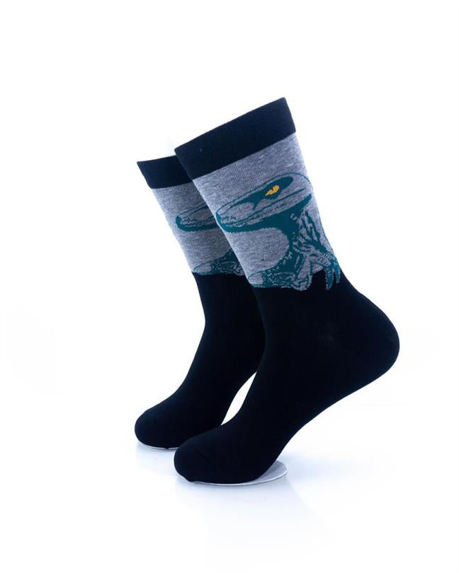 CoolDeSocks Raptor - Green Socks left view image