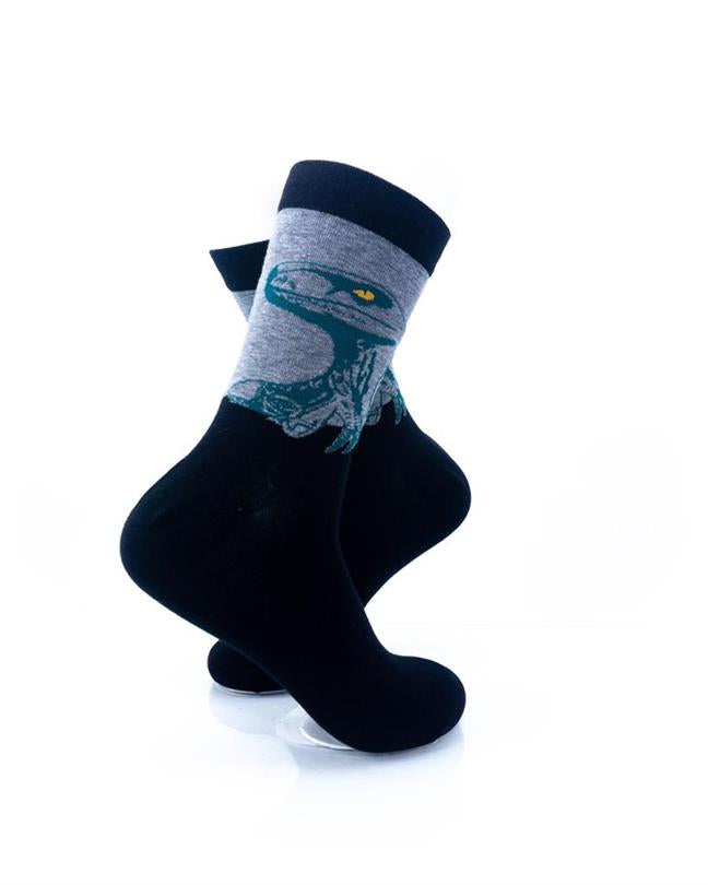 CoolDeSocks Raptor - Green Socks right view image