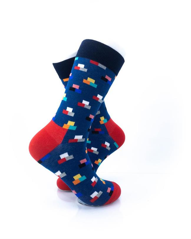 CoolDeSocks Rectangle Mosaic Blue Socks right view image
