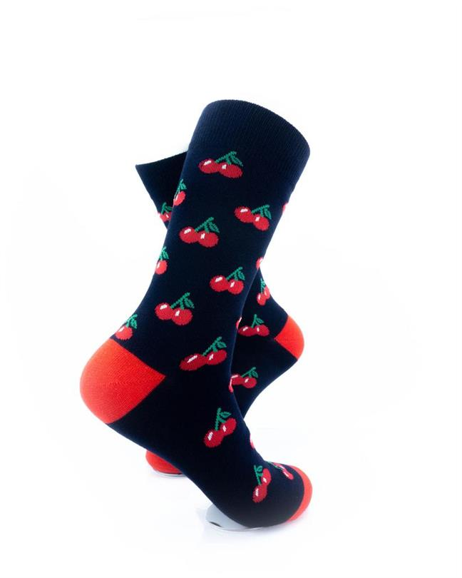 CoolDeSocks Red Cherry Socks right view image