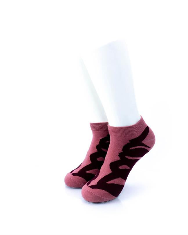 CoolDeSocks Red Ribbon Socks front view image