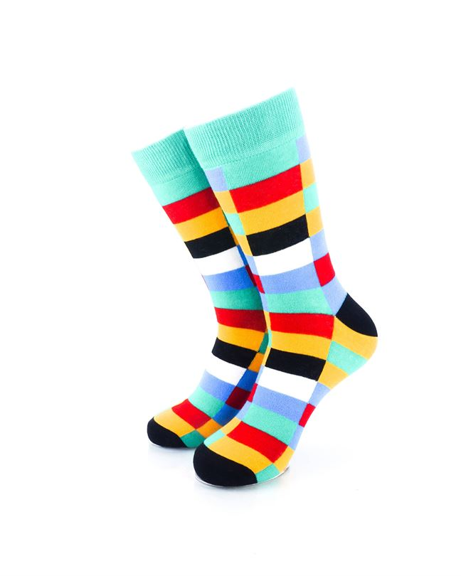 CoolDeSocks Retro Bar Colorful Socks Front View Image
