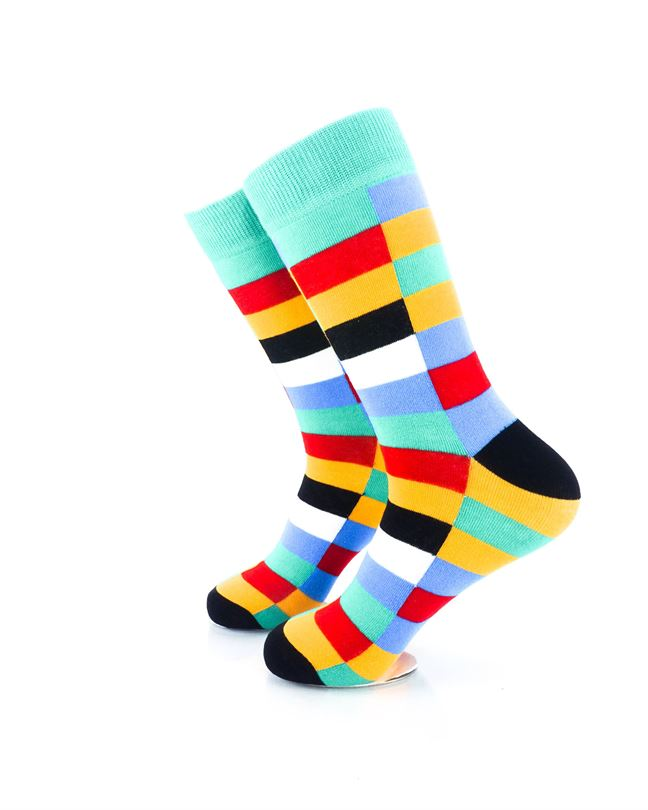 CoolDeSocks Retro Bar Colorful Socks Left View Image