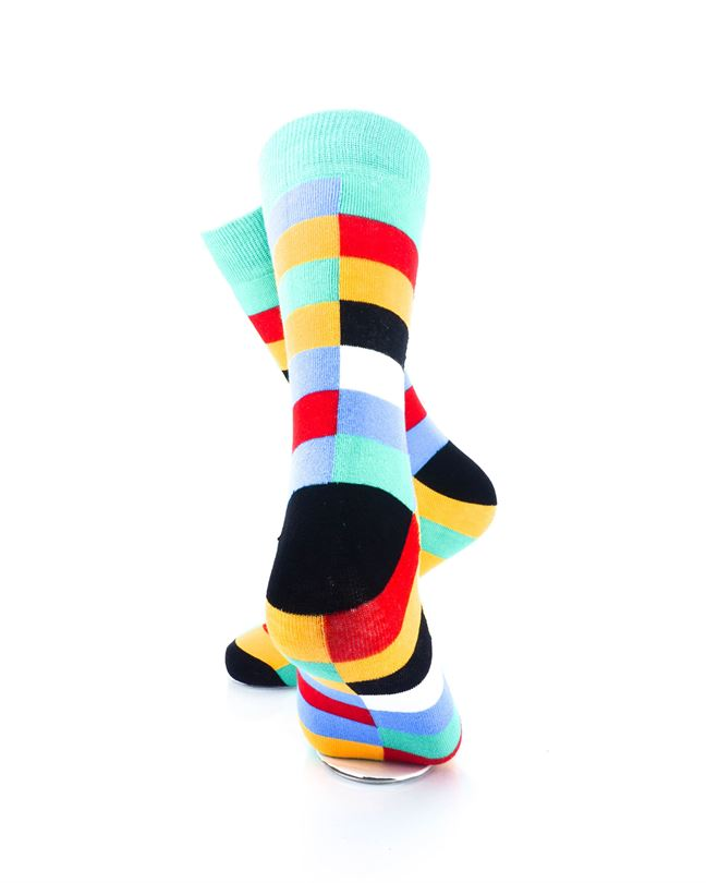 CoolDeSocks Retro Bar Colorful Socks Rear View Image